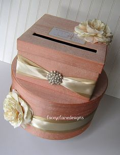 Wedding Card Boxes Custom Made Money Holder by LaceyClaireDesigns, $98.00