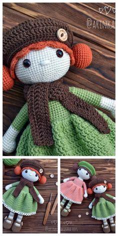 Amigurumi Rose Doll Free Pattern – Amigurumi Free Patterns And Tutorials Doll Amigurumi Free Pattern, Crochet Dolls Free Patterns, Crochet Doll Pattern, Crochet Blanket Patterns, Amigurumi Doll, Doll Patterns, Crochet Mug Cozy, Crochet Neck Warmer, Crochet Teddy