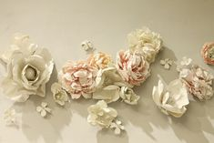 Plaster dipped flower wall installation at bhldn in NYC. So, so so gorgeous!!!