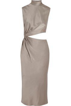 Jason Wu|Cutout satin dress|NET-A-PORTER.COM