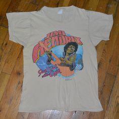 1566b07ab52 RaRe  1982 JIMI HENDRIX  vintage rock band concert promo t-shirt (M L) 80s  Jimmy