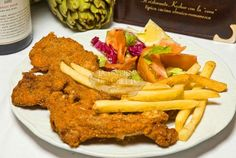 Braciolette di abbacchio fritte con patate fritte - Taverna del Ghetto - #kosher #kosherfoodroma #kosherfood