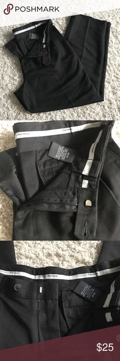 "Perry Ellis black Dress Pants 34x32 In good used condition. Black Perry Ellis Classic Fit dress pants. Size says 34x32. Inseam measures 29"". Total pant length is 39"". Perry Ellis Pants Dress"