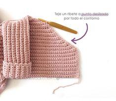 Crochet Kimono for Baby [ Tutorial y Patrón GRATIS ] - Bestselling Outer Wears Gilet Crochet, Crochet Baby Cardigan, Crochet Baby Clothes, Crochet Jacket, Baby Clothes Patterns, Baby Knitting Patterns, Baby Patterns, Crochet Patterns, Crochet For Kids