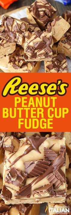 Reese's Peanut Butter Fudge is luscious and creamy, made with chunks of peanuts throughout the fudge to give it the perfect crunch. This Reese's Peanut Butter Fudge is a simple recipe with just (Ingredients Recipes Peanut Butter Cookies) Reeses Peanut Butter, Peanut Butter Recipes, Fudge Recipes, Candy Recipes, Sweet Recipes, Baking Recipes, Simple Recipes, Simple Fudge Recipe, Reese Fudge Recipe