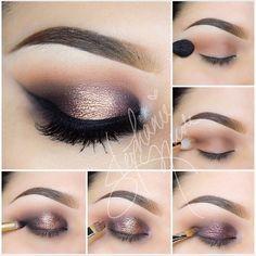 Gorgeous copper and purple smokey eye