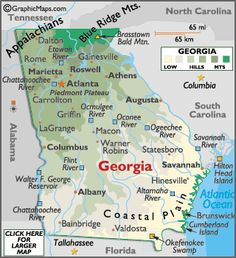 Atlanta Indiana Map.Georgia Savannah Jekyll St Simon S Islands The Golden Isles