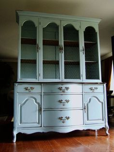 Variety of French Country Hutches by Artisan8 on Etsy, $1195.00  Love the hutch part with wire on doors