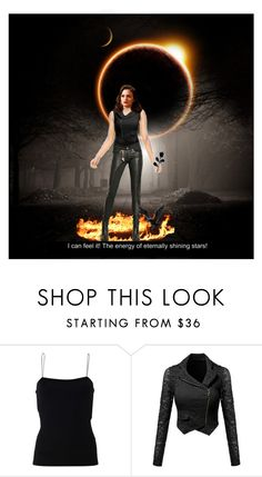 """""""I'm on the highway to hell Highway to hell I'm on the highway to hell Highway to hell Don't stop me"""" by neesiee ❤ liked on Polyvore featuring T By Alexander Wang and Tuesday Night Band Practice"""