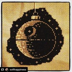 There's probably still time to make your own one of these! It's ace! #regram @softhappiness  #christmas #deathstar #starwars #maytheforcebewithyou #crossstitch #genbrugsjul #pointdecroix #puntodecruz #xstitch #korssting #blødlykke #christmasdecorations #needlework #creativityfound #baubles #rogueone #handmadegifts #mrxstitch via The Mr X Stitch official Instagram  Share your stitchy 'grams with us - @mrxstitch #xstitchersofinstagram #mrxstitch