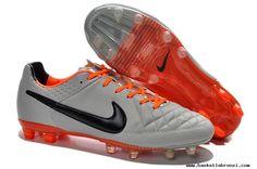 Nike Tiempo Legend V FG - Grey/Orange 2014