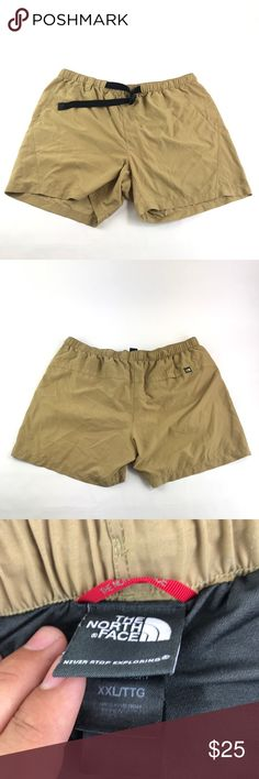 "The North Face Men's Hiking Shorts Description: The North Face Men's Hiking Shorts  Item Condition: This Is In Excellent Used Condition! No Rips Or Stains! Comes From A Pet/Smoke Free Home!  Color: Khaki   Size: XXL Inseam 6""   Shipping: -All items will ship within 1 business day via USPS with tracking  Inventory: J1 The North Face Shorts"