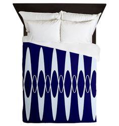 Blue pulse Queen Duvet on CafePress.com