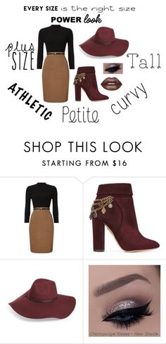 """Power Look"" by metzsabrina-1 ❤ liked on Polyvore featuring Phase Eight, Aquazzura, Halogen, Lime Crime and powerlook"