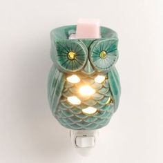 Turquoise Owl Tart Burner Night Light | Kirkland's