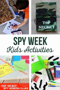 Spy Week Kids Activi