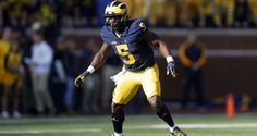 Jabrill Peppers-LB/S-Michigan Size: 5'11 213lbs Michigan Wolverines linebacker Jabrill Peppers (5) plays against the Maryland Terrapins in the first half of an NCAA
