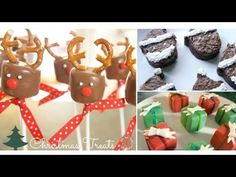 3 DIY Christmas Treats! (Reindeer Marshmallow Pops, Santa Brownies, & Present Chocolates!) - YouTube
