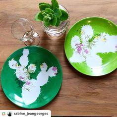 ⭐️YATO⭐️ (@beayato) • Coll. FLEUR DE CACTUS Vintage Customised Porcelain wwww.yato.fr
