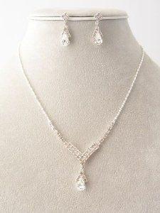 Feines Hochzeit Brautschmuck Set Silbert mit Kristall klar - http://www.wonderfulworldofjewelry.com/jewelry/jewelry-sets/feines-hochzeit-brautschmuck-set-silbert-mit-kristall-klar-de/ - Your First Choice for Jewelry and Jewellery Accessories