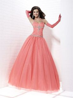 Ball Gown Halter Tulle Floor-length Sleeveless Crystal Detailing Quinceanera Dresses at sweetquinceaneradress.com