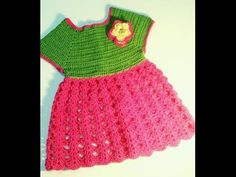 CROCHET SQUARE NECK BABY DRESS-3 - YouTube