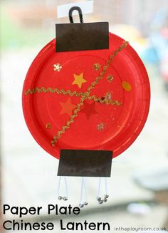 paper plate chinese lantern craft for chinese new year