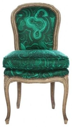 Tony Duquette malachite Belvedere chair - Traditional Style - Shades of Green