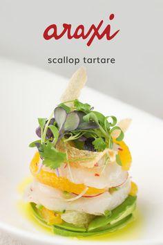 Scallop tartare with avocado-citrus salad Carpaccio Recipe, Tartare Recipe, Ceviche Recipe, Lobster Dishes, Seafood Dishes, Seafood Recipes, Salad Bar Restaurants, Restaurant Bar, Recipes