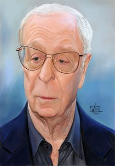 Caricature portrait of Michael Caine by Lamolinara Vincenzo.