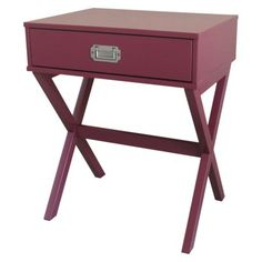 Accent Table Campaign Gray