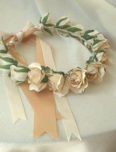 Wedding Accessories Flower girl halos set of 3custom by AmoreBride, $160.00