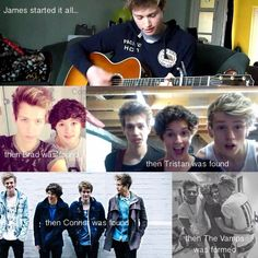 First there was James, then Brad, then Tristan, then Connor, then... The Vamps ❤ aww