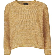 TOPSHOP Textured Tipped Crop Jumper (2.000 UYU) ❤ liked on Polyvore featuring tops, sweaters, mustard, mustard sweater, mustard yellow top, topshop tops, cropped jumper and mustard yellow sweater