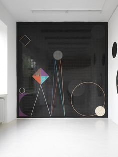 Claudia Wieser, name: Das Jahr der Seele date: 2009,  dimension: 441 x 470 cm, (medium): Painted and glazed ceramic tiles on wooden construction
