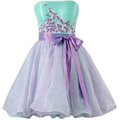 Sunvary Colorful Strapless Homecoming Party Dresses for Girls