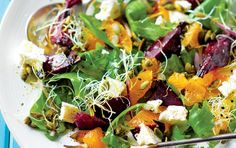 Beetroot, naartjie & pumpkin seed salad. Find more Low-GL recipes at www.holforddirect.co.za