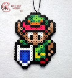 Legend of Zelda Link Necklace Bead Sprite Perler Art