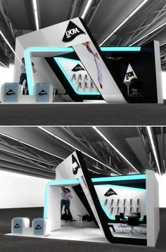 Stand design for Lycra. I like the interacting elements and the LED (?) face  exhibition design medium by ceyhun TONYALOGLU at Coroflot.com