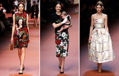 Dolce & Gabbana salutes mothers at Milan Fashion Week - ALESSANDRO BIANCHI/Newscom/Reuters; Luca Bruno/AP Photo; Luca Bruno/AP Photo