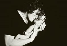 Joe Nichols and his new baby daughter  Dylan
