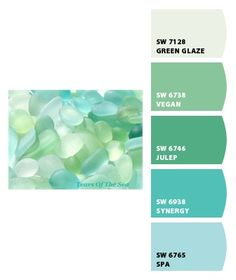 sea glass...love that one of the colors here is called vegan lol