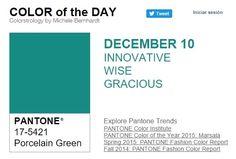 ... y el color de hoy es el Verde Porcelana, un color innovador, sabio, gracioso.