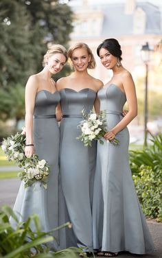 Satin sweetheart necklines...say that five times fast!  SorellaVita does it 0df270d5f06
