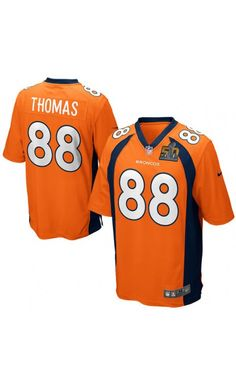 NFL Youth Denver Broncos Demaryius Thomas Orange Super Bowl 50 Bound Game  Jersey  sb50   5b90d0d6e
