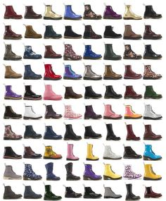 Doc Martens-every time I go on their website I drewl over almost all of the shoes/boots....I want them all!! #need$$$