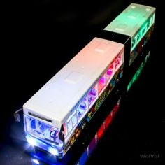 WolVol Articulated Bus Toy with Beautiful Flashing Lights and Music, Goes around on its own (Battery Powered) - Great Gift Toy for Bus Lovers