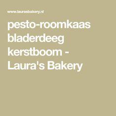 pesto-roomkaas bladerdeeg kerstboom - Laura's Bakery