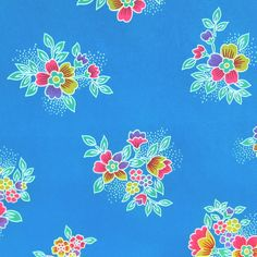 Turquoise - Crystal Floral Satin