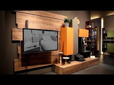 Fimar presents the new Rebel System: modern wall units, walk-in closets and bedin Industrial design Interior Design Living Room, Living Room Designs, Tv Feature Wall, Modern Wall Units, Milan Furniture, Home Tech, Global Design, Italian Furniture, Houses
